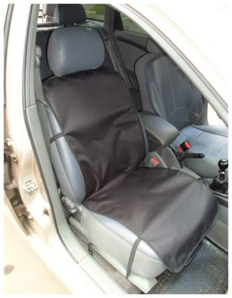 Накидка переднее сиденье с карманом (черная)