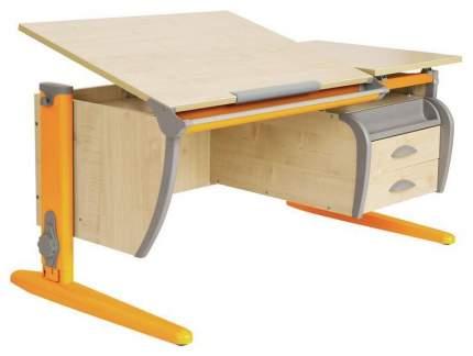 Парта Дэми СУТ 17-04Д с задней и двухъярусной задней приставками Оранжевый 120 см