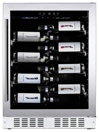 Встраиваемый винный шкаф Dunavox DAU-40.138SS Black