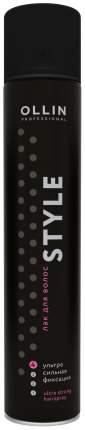 Лак для волос Ollin Professional Style Ультрасильной фиксации 500 мл