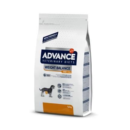 Сухой корм для собак Advance, для мелких пород, при ожирении, 1,5 кг