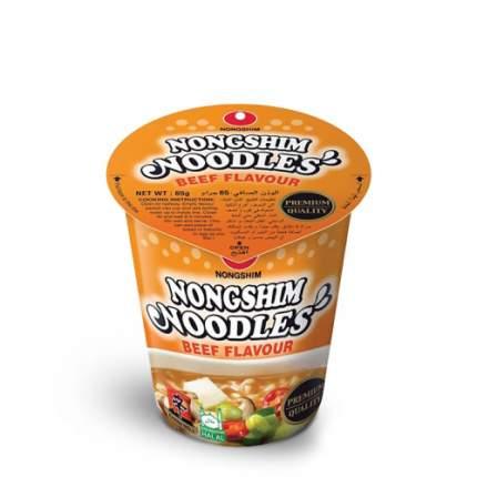 Лапша быстрого приготовления Nongshim со вкусом говядины стакан 65 г