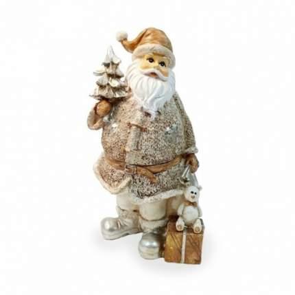 Фигурка Дед мороз с подарком и мишкой Н-23 см