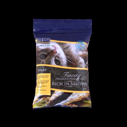 Сухой корм для кошек Fish4Cats Finest Sardine, сардины, 0,4кг