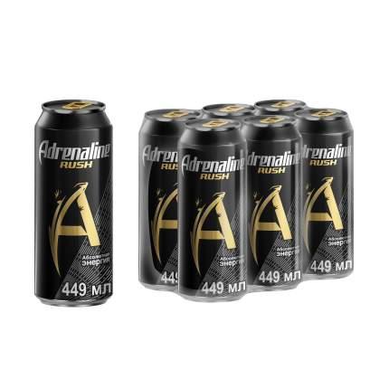 Энергетический напиток Adrenaline rush в упаковке 6*0.449 л