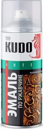 Эмаль KUDO молотковая по ржавчине серебристо-синяя