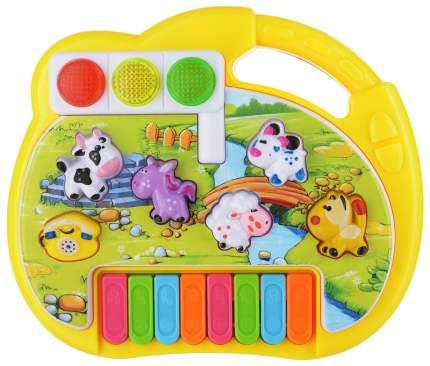 SHANTOU Пианино Звуки животных, звуковые и световые эффекты 21,8х5х16,6 см CY-6091B