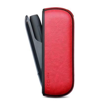 Красный чехол для IQOS 3 эко-кожа