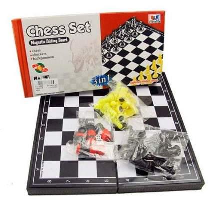 Игра 3 в 1: шашки, шахматы, нарды магнитные TX11224