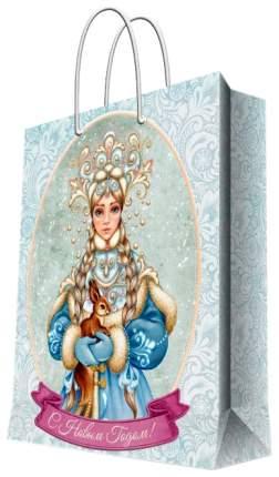 """Пакет подарочный """"Снегурочка с белочкой"""", 17,8х22,9х9,8 см"""