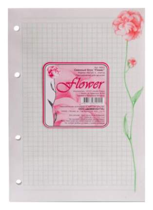 """Сменный блок в клетку """"Flower"""" A5"""