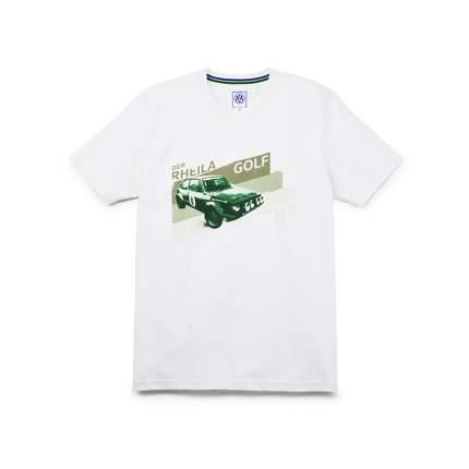 Футболка мужская Volkswagen 5NG084200E GT1 белый/зелёный Votex VAG