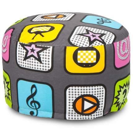 Кресло-мешок ПуффБери Плей, размер XS, жаккард, разноцветный