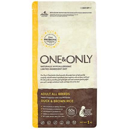 Сухой корм для собак ONE&ONLY Adult All Breeds Duck&Rice, все породы, утка с рисом, 1кг