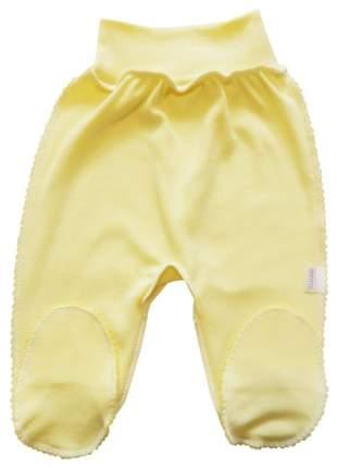 Ползунки на резинке Папитто цвет желтый р.20-62