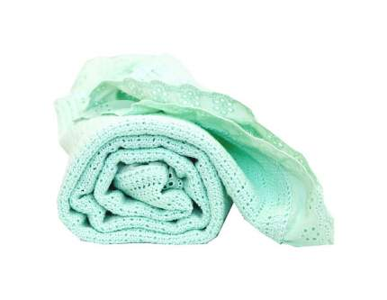 Одеяло вязаное Baby Nice с рюшами мятное, 80x100 см