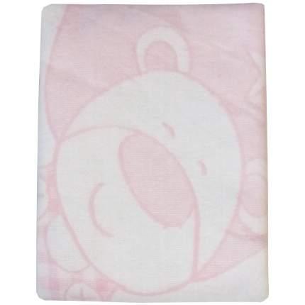Одеяло детское байковое 100*140 Розовый 1155