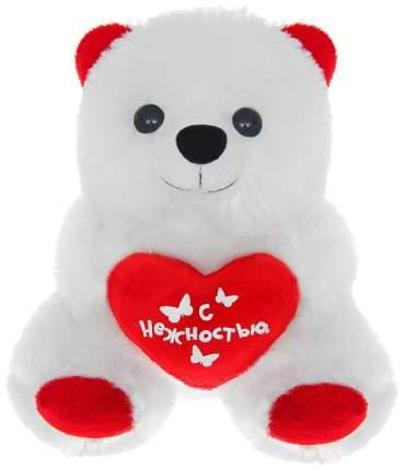 """Мягкая игрушка """"Мишка с сердцем"""" - С нежностью, 17 см Sima-Land"""