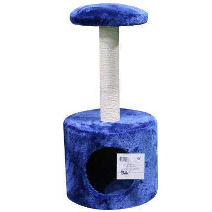 Домик для кошек Pet Choice с когтеточкой, темно-синий, 26х26х50 см
