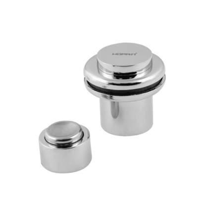 Ограничитель двери НОРА-М 804 магнитный, напольный, хром