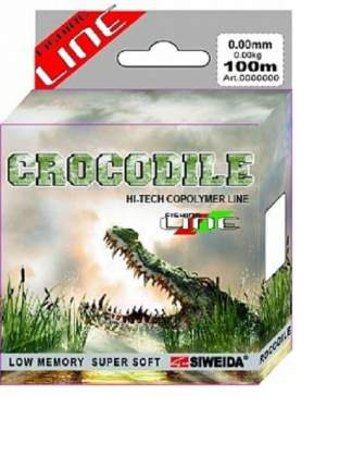 Леска монофильная Siweida Crocodile 0,16 мм, 100 м, 2,8 кг
