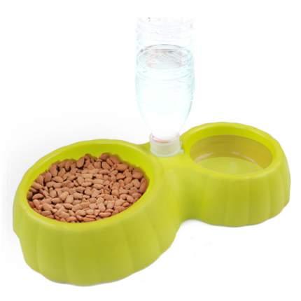 Миска для домашних животных Bobo, двойная с автопоением, зеленая