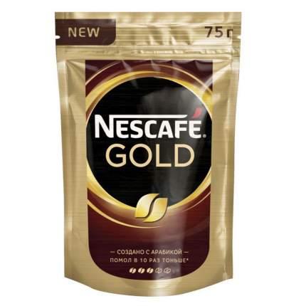 Кофе растворимый Nescafe gold пакет 75 г
