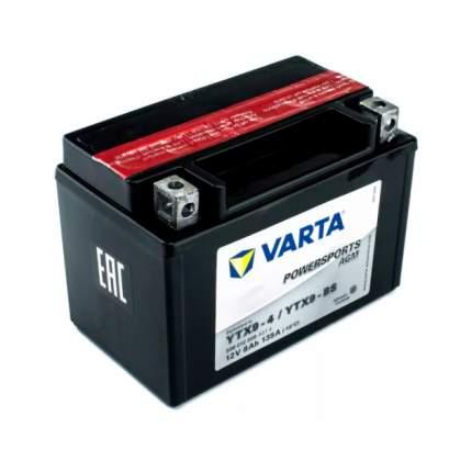 Аккумуляторная Батарея Рус 8ah 135a 152/88/106 Ytx9-Bs Powersports Agm Moto Varta