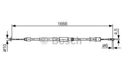 Трос cтояночного тормоза Bosch 1987482032