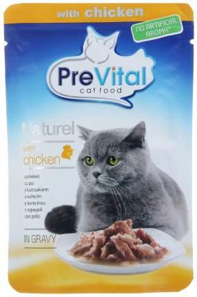 Влажный корм для кошек PreVital Naturel, с курицей в соусе, 85г
