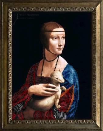 Набор Вышивание ювелирным бисером Краса и творчество 40816 Дама с горностаем 15,4х20,7 см