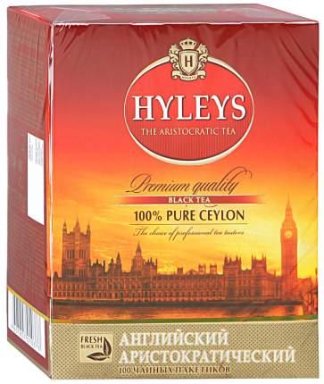 Чай Hyleys английский аристократический черный байховый цейлонский 100 пакетиков