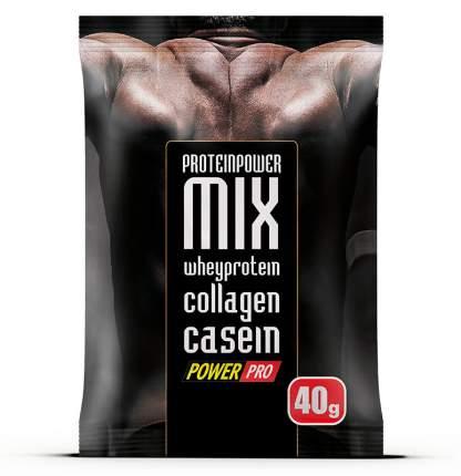 Протеин PowerPro Power Mix, 40 г, шоколадный циннамон