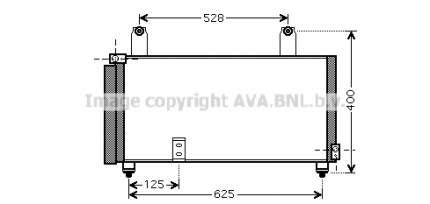 Радиатор кондиционера Ava SZA5081D