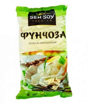 Фунчоза  Sen Soy лапша из зеленых бобов широкая 180 г