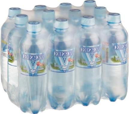 Вода Сенежская газированная пластик 0.5 л 12 штук в упаковке