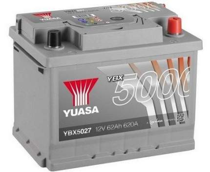 Аккумулятор автомобильный Yuasa YBX5027 62 Ач