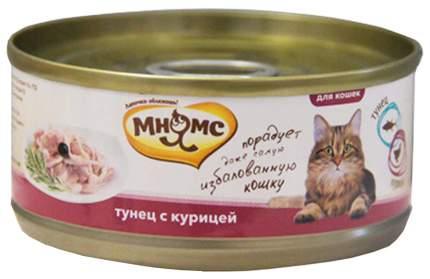 Консервы для кошек Мнямс, тунец, курица, 24шт, 70г