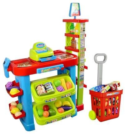Супермаркет игрушечный Наша Игрушка Витрина супермаркета с тележкой