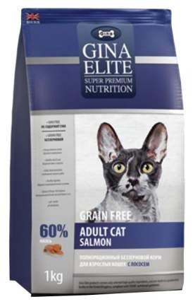 Сухой корм для кошек GINA Elite Grain Free, беззерновой, лосось, 1кг