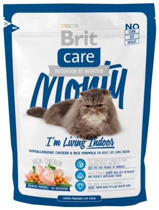 Сухой корм для кошек Brit Care Monty Indoor, для домашних, курица, 0,4кг