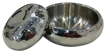 Одинарная миска для кошек и собак DOGMAN, сталь, серебристый, 0.36 л