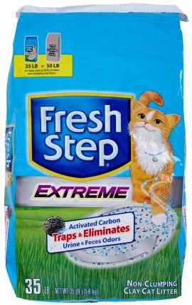 Впитывающий наполнитель туалета для кошек Fresh step Extreme Clay 15,87 кг