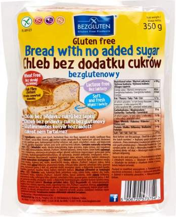Хлеб безглютеновый Bezgluten без сахара 350 г