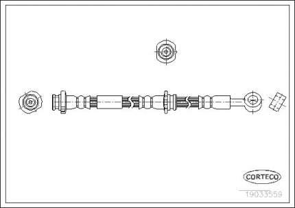 Шланг тормозной CORTECO 19033559