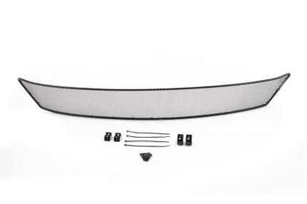 Сетка на бампер внешняя arbori для Skoda Rapid 2014, черная, 10 мм, с ПТФ