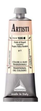 Масляная краска Maimeri Artisti 106 неаполитанский желто-красный 60 мл