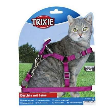 Шлейка с поводком для кошек Trixie Cat One Touch Harness, размер 26х37х1см в ассортименте