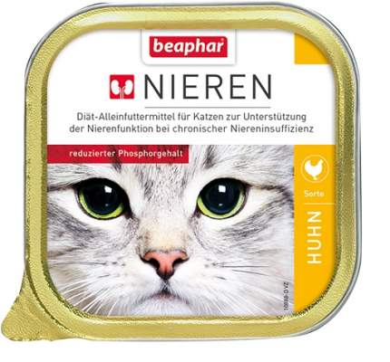 Консервы для кошек Beaphar Nieren с заболеваниями почек, курица с таурином, 16шт, 100г