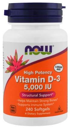 Витамин D NOW Vitamin D-3 5000 Me 240 капс.